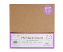 Dovecraft Kraft 6x6 Inch Cards & Envelopes (DCBS196)