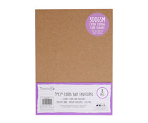 Dovecraft Kraft 5x7 Inch Cards & Envelopes (DCBS197)