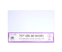 Dovecraft White 5x7 Inch Cards & Envelopes (50pcs) (DCBS199)