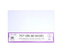 Dovecraft White 5x7 Inch Cards & Envelopes (50pcs) (DCBS199)