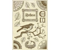 Stamperia Wooden Shape A5 Cosmos Believe Bird (KLSP058)