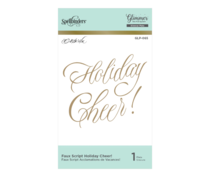 Spellbinders Faux Script Holiday Cheer! Hot Foil Plate (GLP-065)