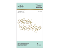 Spellbinders Faux Happy Holidays Hot Foil Plate (GLP-068)