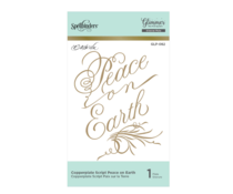 Spellbinders Copperplate Script Peace on Earthn Hot Foil Plate (GLP-082)
