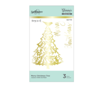 Spellbinders Merry Christmas Tree Hot Foil Plate (GLP-113)