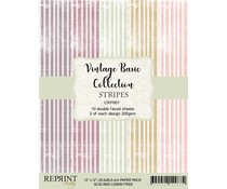 Reprint Stripes Basic 12x12 Inch Paper Pack (CRP007)