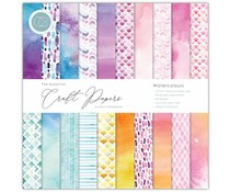 Craft Consortium Essential Craft Papers 6x6 Inch Paper Pad Watercolours (CCEPAD003B)