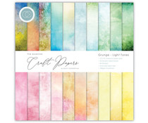 Craft Consortium Essential Craft Papers 6X6 Inch Paper Pad Grunge Light Tones (CCEPAD008B)