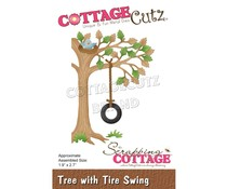Scrapping Cottage Tree With Tire Swing CC-633)