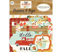 Carta Bella Fall Market Frames & Tags (CBFAM105025)
