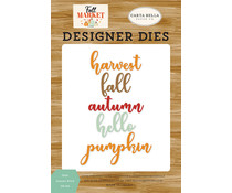 Carta Bella Hello Autumn Word Die Set (CBFAM10544)