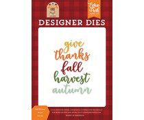 Echo Park Fall Harvest Word Die Set (MFF187043)