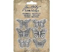 Idea-ology Tim Holtz Adornments Butterflies (6pcs) (TH93689)