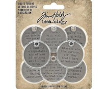 Idea-ology Tim Holtz Quote Tokens (8pcs) (TH93691)