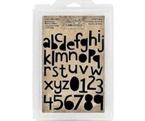 Idea-ology Tim Holtz Cling Foam Stamps Cutout Lower (38pcs) (TH93700)