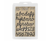 Idea-ology Tim Holtz Cling Foam Stamps Cutout Script (38pcs) (TH93701)