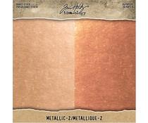 Idea-ology Tim Holtz Kraft-Stock 8x8 Inch Metallic 2 Rose Gold & Copper (TH93780)