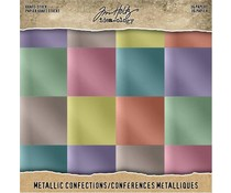 Idea-ology Tim Holtz Kraft-Stock 8x8 Inch Metallic Confections (TH93784)