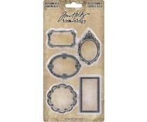 Idea-ology Tim Holtz Adornments Deco Frames (5pcs) (TH93792)