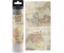 Idea-ology Tim Holtz Collage Paper Travel (6yards) (TH93950)