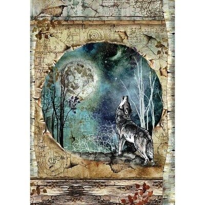 Rice Paper for Decoupage Hobby Paints A4 Stamperia Rice Paper Wolf