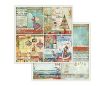 Stamperia 4 Frames Christmas 12x12 Inch Paper Sheet (SBB653)