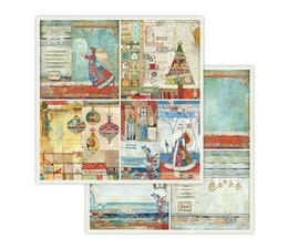 Stamperia 4 Frames Christmas 12x12 Inch Paper Sheet (SBB653)