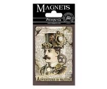 Stamperia Voyages Fantastiques Man 8x5.5cm Magnet (EMAG003)