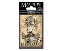 Stamperia Voyages Fantastiques Woman 8x5.5cm Magnet (EMAG004)