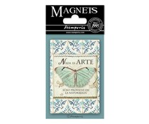 Stamperia Azulejos Butterfly 8x5.5cm Magnet (EMAG007)