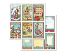 Stamperia Christmas Cards 12x12 Inch Paper Sheet (SBB636)