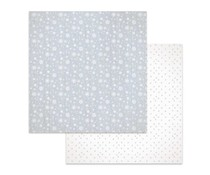 Stamperia Texture Snow Flakes 12x12 Inch Paper Sheet (SBB619)