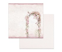 Stamperia Flowered Arch 12x12 Inch Paper Sheet (SBB623)