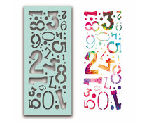 Polkadoodles Number Collage Stencil (PD7936)