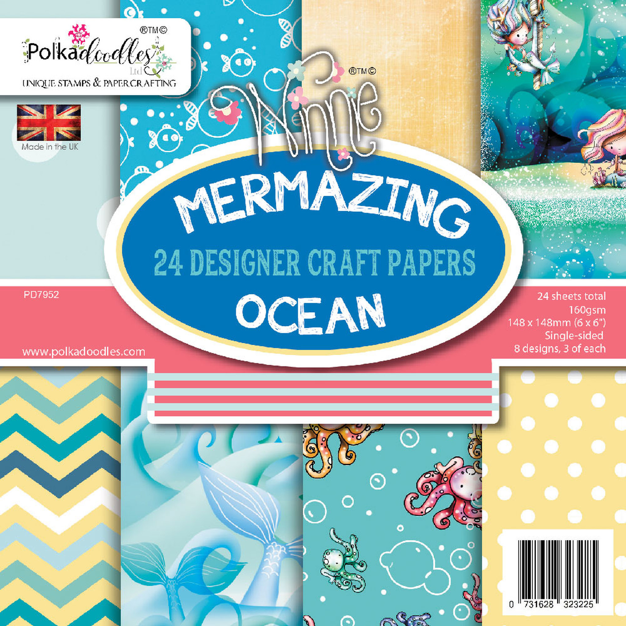 Mermazing Ocean Paper Pack 6x6 Inch (PD7952) - Craftlines