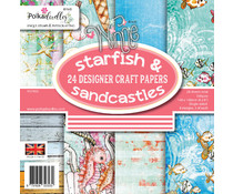 Polkadoodles Starfish & Sandcastles 6x6 Inch Paper Pack (PD7953)