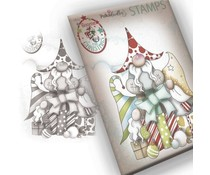 Polkadoodles Gnome Gift Of Xmas Clear Stamp (PD7943)