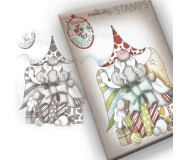 New Polkadoodles Toppers and Papers Xmas Gnome Together Cute Christmas