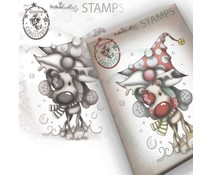 Polkadoodles Gnome Let's Go Clear Stamp (PD7947)