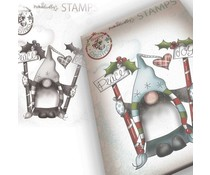 Polkadoodles Gnome Peace & Joy Clear Stamp (PD7948)