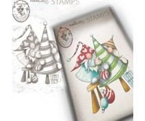 Polkadoodles Gnome Decorating The Tree Clear Stamp (PD7950)