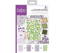 Crafter's Companion Mistletoe Moments Background Layering Stamps (CC-STP-MISM)