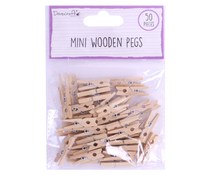 Dovecraft Essentials Mini Wooden Pegs (50pcs) (DCBS230)