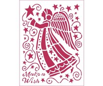 Stamperia Stencil A5 Make a Wish Angel (KSD305)