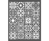 Stamperia Thick Stencil 15x25cm Azulejos (KSTD046)