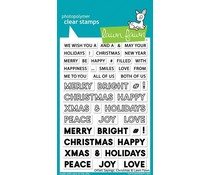 Lawn Fawn Offset Sayings: Christmas Clear Stamps (LF2026)