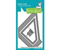 Lawn Fawn Diagonal Gift Card Pocket Dies (LF2045)