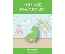 Lawn Fawn Dino-Mite Enamel Pin (LF2089)