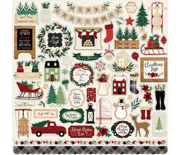 Echo Park A Cozy Christmas 12x12 Inch Element Sticker (ACC189014)