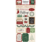 Echo Park A Cozy Christmas 6x13 Inch Chipboard Phrases (ACC189022)